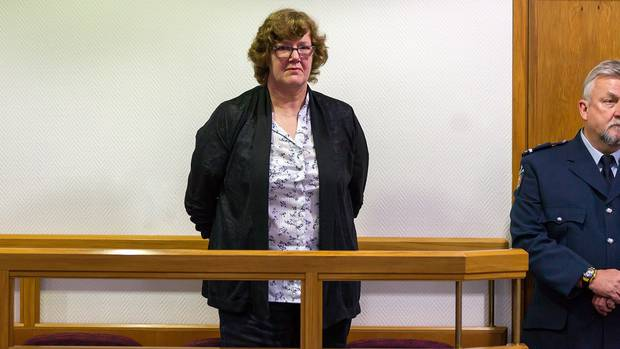 Helen Milner on trial in the High Court in Christchurch.