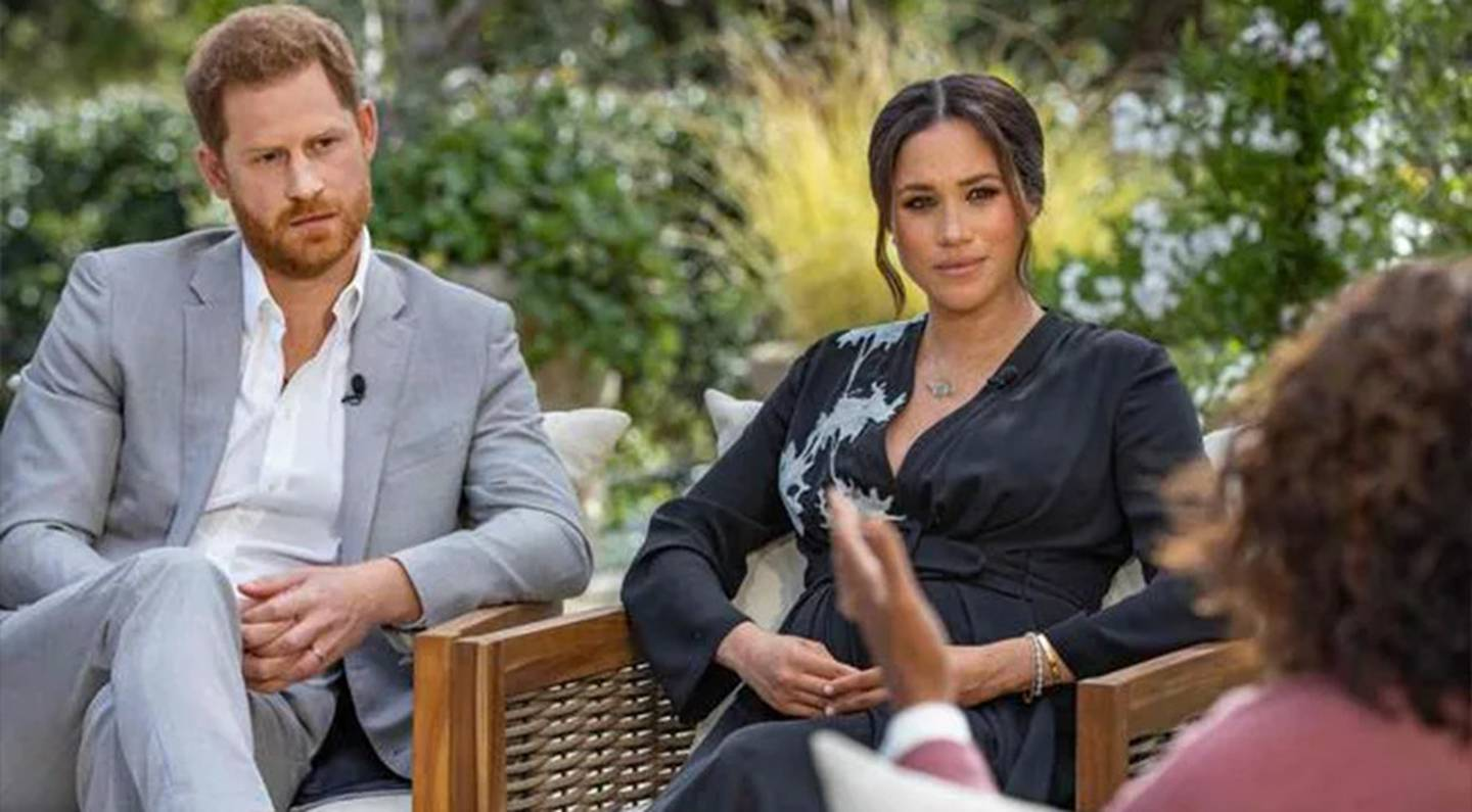 The Duke of Sussex may regret the interview with wife Meghan and his decision to leave the royal family, an author claims. Photo / Oprah