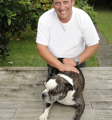 4e0c8f01d9ecc ... Lotto millionaire Trevor Cooper still lives alone - not counting canine  pal Mac - though he