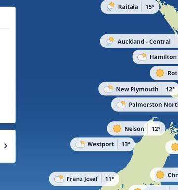 Hastings New Zealand Map.Put Us On The Map Hastings Mayor Fumes As Metservice Removes City