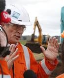 Refining NZ chief executive Sjoerd Post at the site of failed pipeline. Photo / Michael Cunningham