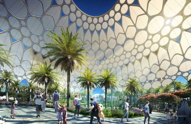 Artist impression Al Wasl Plaza at Dubai Expo. Image / Suppied