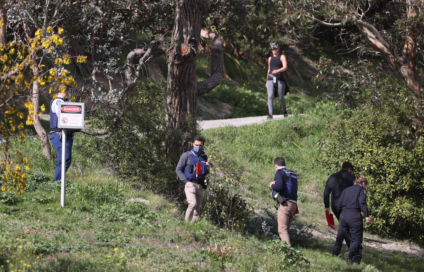 Police are investigating after a body was discovered in Christchurch's Port Hills this morning. Photo / George Heard