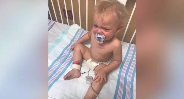 18-month-old Brody contracted whooping cough. Photo / Facebook / Jessica Leigh Boren