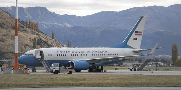 United States Government plane lands in Queenstown ahead of secret spy  conference - NZ Herald