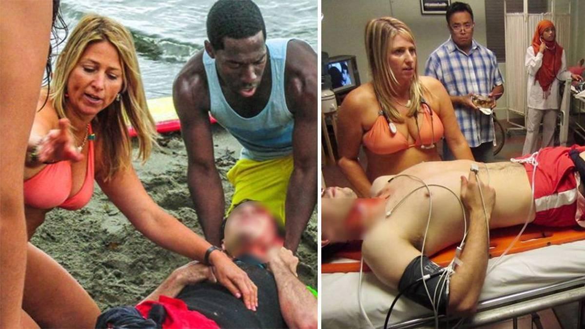 Hawaii doctor goes viral after saving man's life amid #medbikini protest