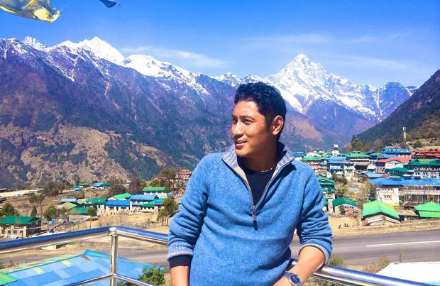 Action for Nepal executive director Lakpa Thering Sherpa in Lukla, home of the airstrip where most tourists visiting the Khumbu region arrive. Photo / Facebook