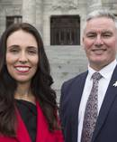 Labour leader Jacinda Ardern and deputy leader Kelvin Davis. Photo / Mark Mitchell