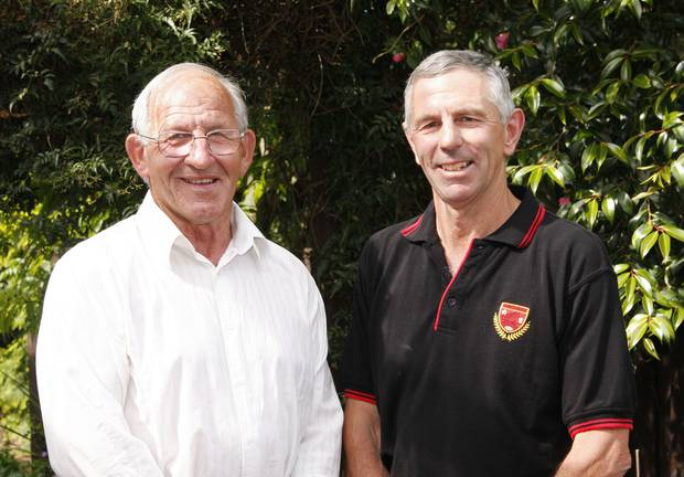 Fergie McCormick (left) and Murray Delieu from Greenpark.