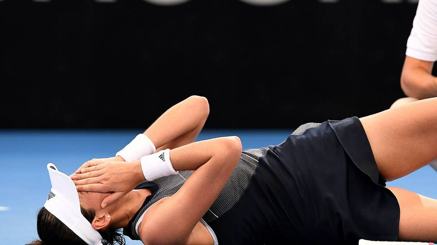 Australian Open: Garbine Muguruza retires in the Brisbane?