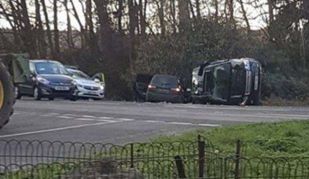 An image of the crash scene from ITV.