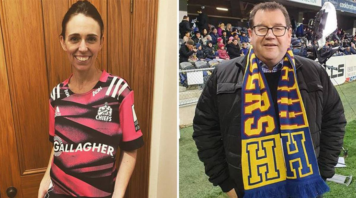 Prime Minister Jacinda Ardern and finance minister Grant Robertson's rugby rivalry