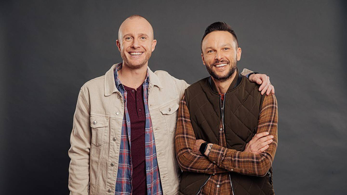 The Hits' radio duo Jono Pryor and Ben Boyce return to our TV screens later this year in Jono & Ben: Good Sports, showcasing unique and unusual sports around NZ. Photo / supplied