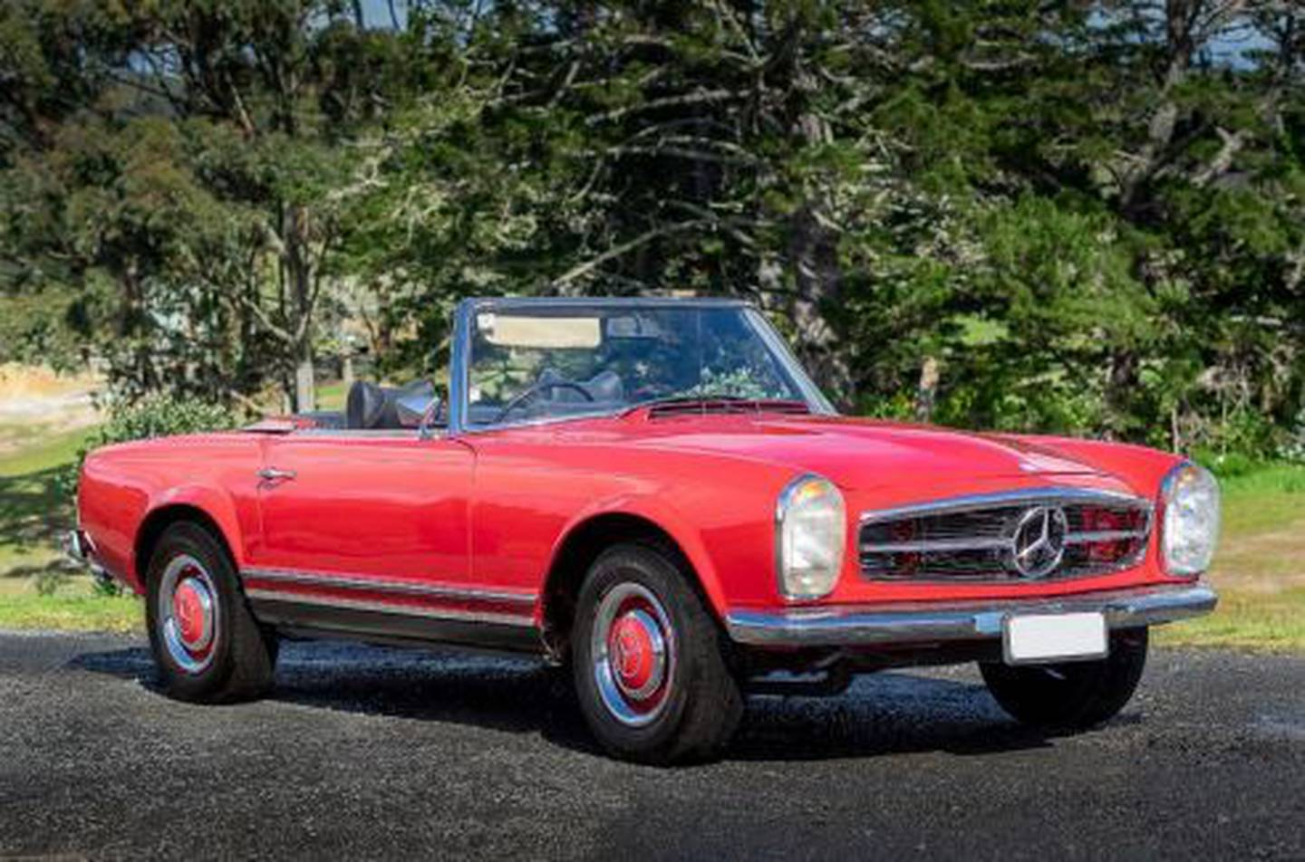 One of the many cars on auction include this 1964 Mercedes-Benz 230SL. Photo / Webb's