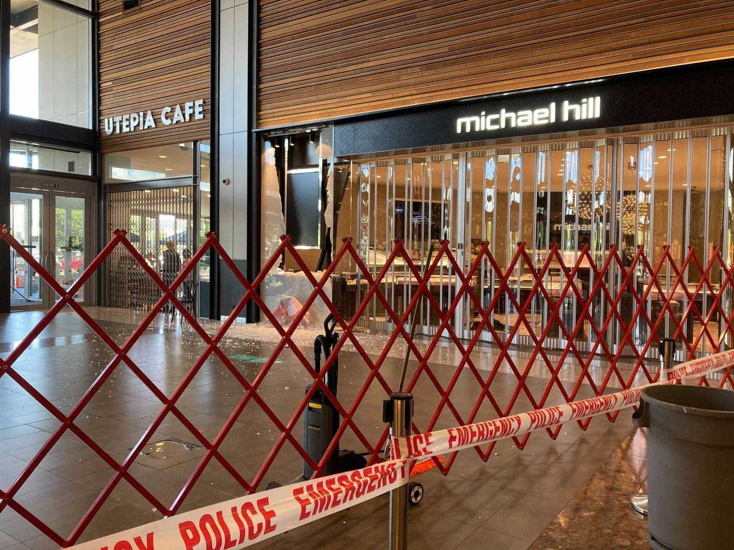 Two jewellery stores in Albany Mall were targeted in the early morning burglary. Photo / Supplied