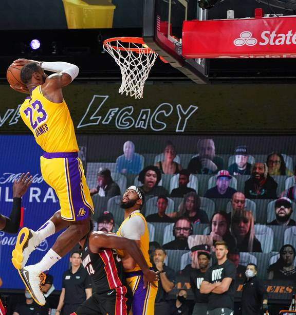 Basketball: Miami wilt as Lakers turn up the Heat in Game 1 of NBA finals -  NZ Herald
