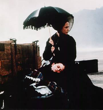 Holly Hunter in a scene from the film The Piano.