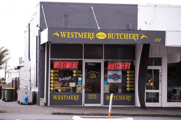 The Westmere Butchery takes out the supreme status for best snag in New Zealand for the second year running. Photo / Dean Purcell
