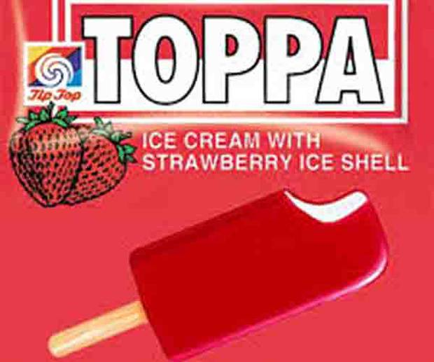 Toppa ice cream made a reappearance in 2014 for a limited time only. Photo / Tip Top