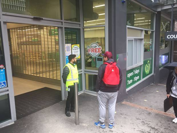 After the man's positive test this morning the Countdown supermarket was closed for a further