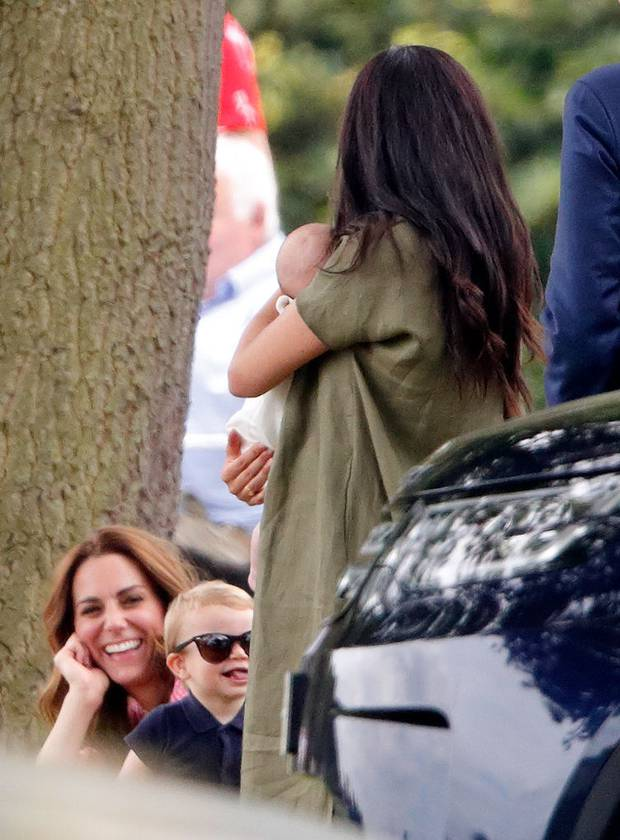 The two duchesses had been seen at a polo match just a few days before where Prince Louis was photographed pulling his tongue out at his aunt. Photo / Getty