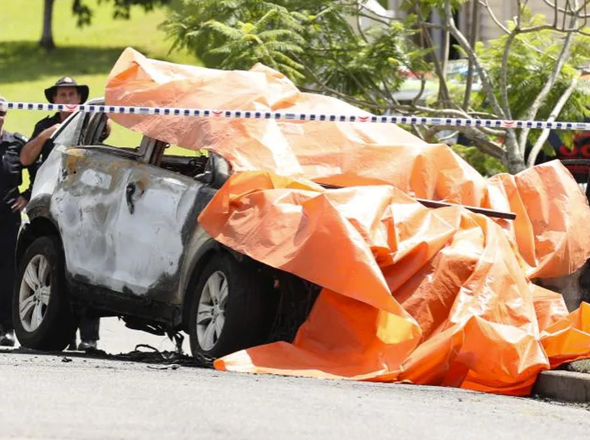 Three children and man dead after car 'set on fire' in Brisbane