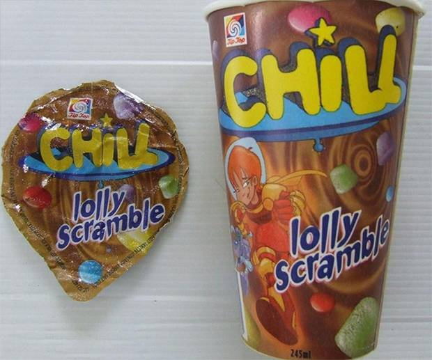 Who remembers this ice cream with the delicious lolly scramble inside?