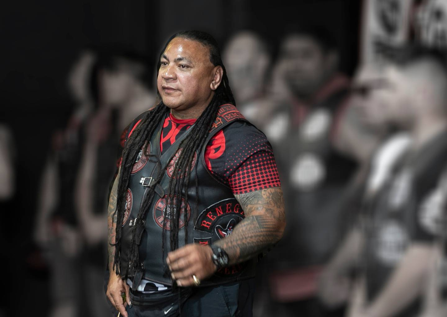 President of the Waikato Mongrel Mob Kingdom Sonny Fatupaito. He has an exemption to enter Auckland to help facilitate testing and contact tracing among members. Photo / File