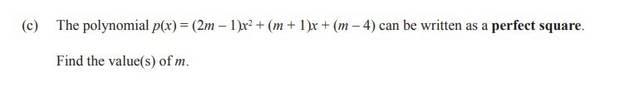 Question 1(c) of the NCEA Level 2 Algebra exam.