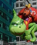 The Grinch balloon floats during Thanksgiving Day parade in New York. Photo / Getty Images