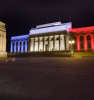 Museum, Sky Tower light up for France - NZ Herald