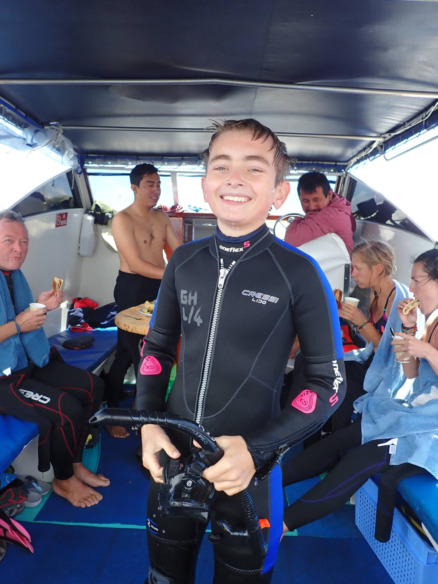 Eddie Jarman, 14, was hit by a speedboat and killed off Moorea Island in French Polynesia on August 9. His family have been rejected entry into NZ border under humanitarian grounds. Photo / Supplied