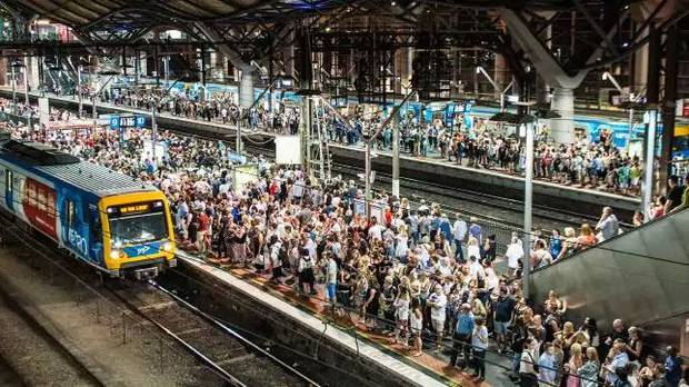 Placing obstacles on stations slows people down but speeds up the overall flow of people. Photo / news.com.au