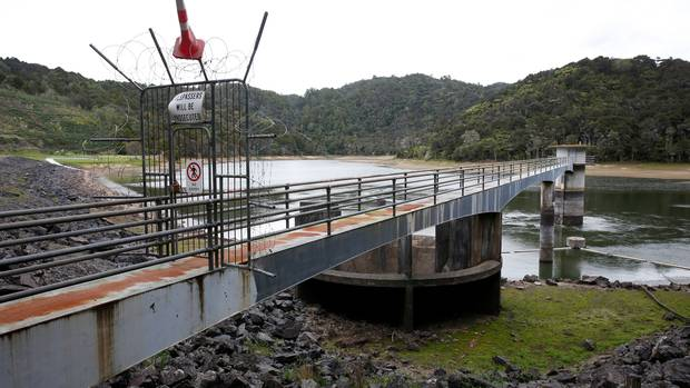 Water level at the Whau Valley Dam has fallen below 50 percent, prompting Level 3 restrictions to come into effect from tomorrow. <note>Thur</note> Photo / Michael Cunningham