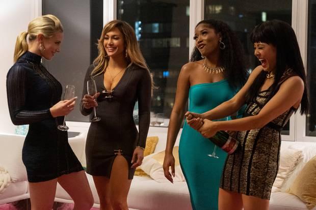 Lili Reinhart, Jennifer Lopez, Keke Palmer, and Constance Wu in Hustlers. Photo / STX Films