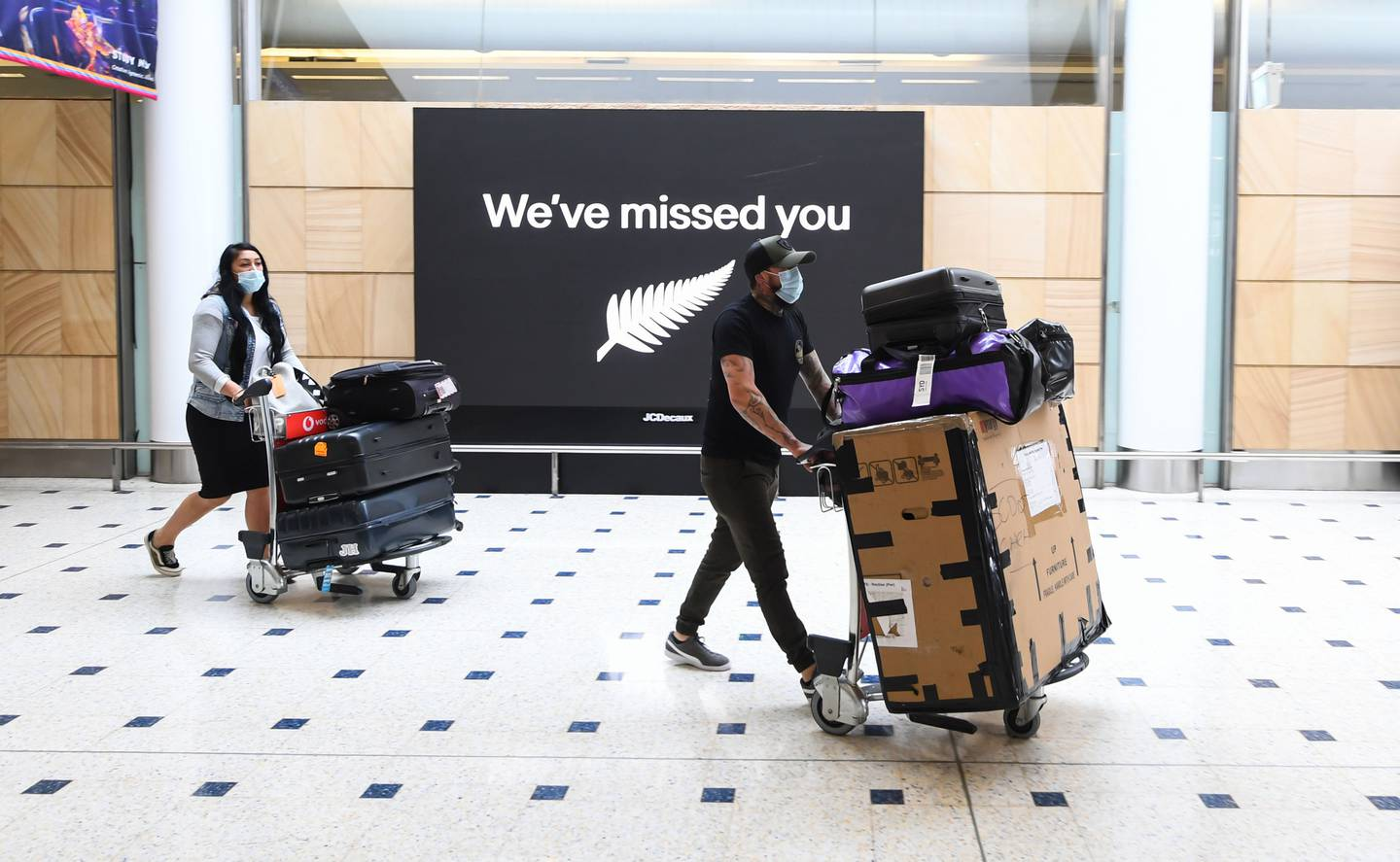 Passengers reach the international arrivals area at Sydney's Kingsford Smith airport/ Photo / Getty Images