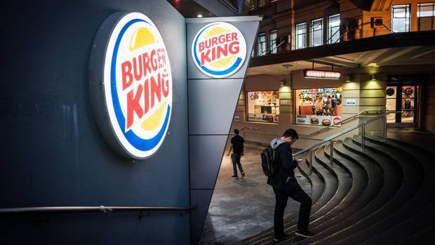 Burger King has been hit by the lockdown. Photo / File