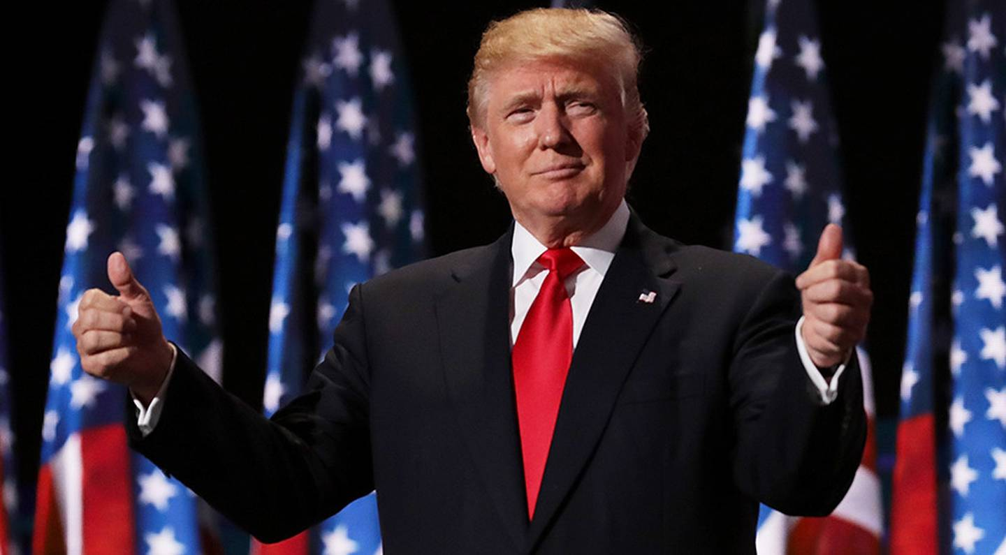 US President Donald Trump has bragged that the only person more famous than him is Jesus Christ. Photo / Getty