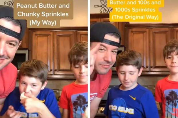 After copping a heap of backlash, he got his two sons to do a taste test. Photo / TikTok@Lunchboxdad