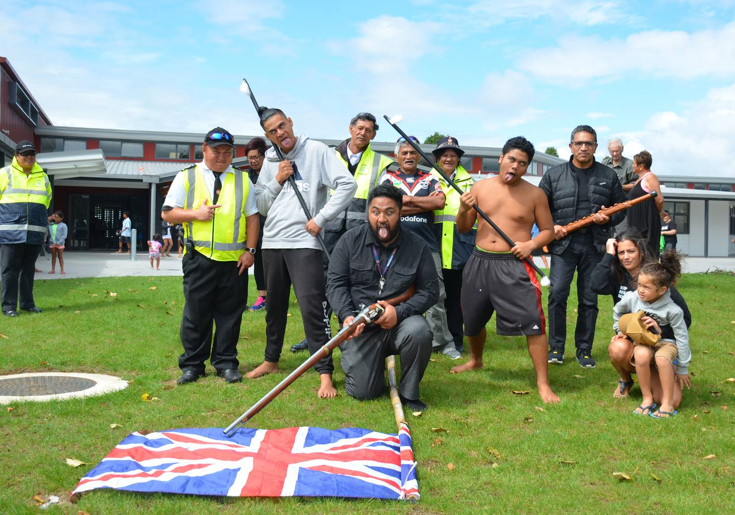 Northland College students re-enacted scenes from the land wars in 2018. Photo / File.