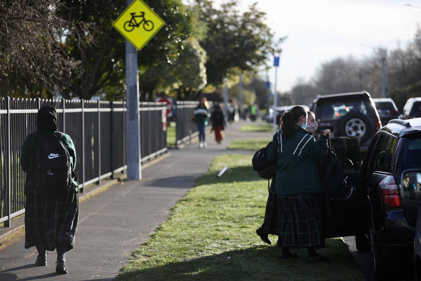 While home schooling and online learning continued for children in Auckland, students in Christchurch were able to get back to class. Photo / George Heard