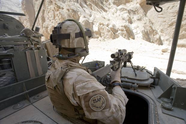On patrol in Bamiyan, Afghanistan, with NZDF personnel.