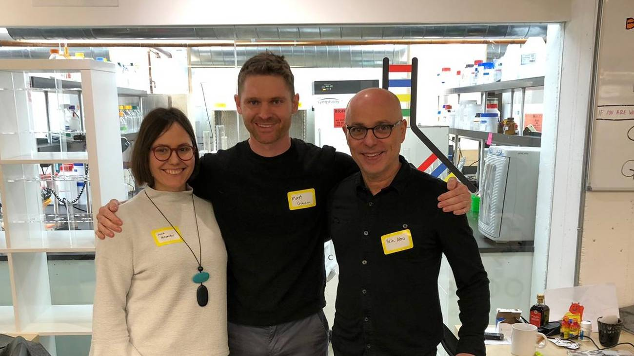 From left: New Culture co-founders Inja Radman, Matt Gibson and Arie Abo. Photo / Supplied