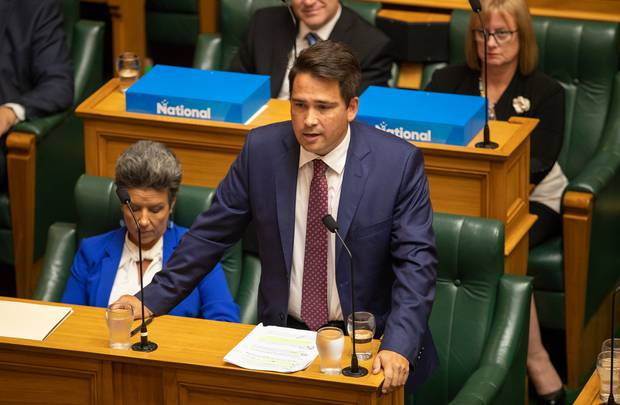 National leader Simon Bridges. Photo / Mark Mitchell