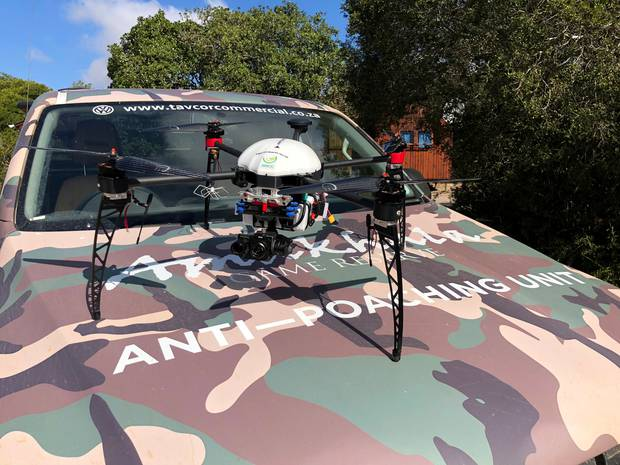 The drone prototype used by anti-poaching units. Photo / Supplied