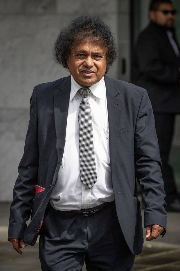 Lawyer Mohammed Idris Hanif outside the Manukau District Court. Photo / Greg Bowker