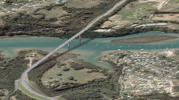 The Penlink road which will provide another route in and out of the Whangaparaoa Peninsula.