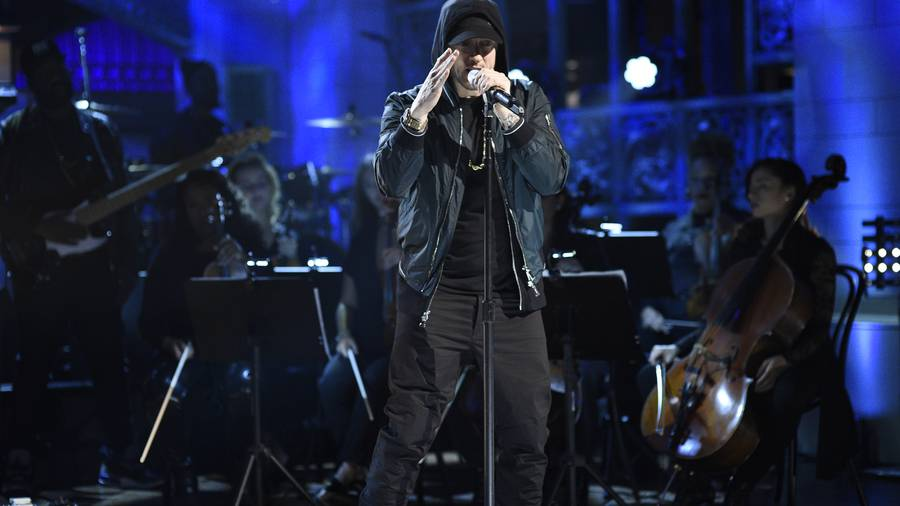 Eminem Sings a Medley of His Hit Songs for 'SNL' 2017 Performance