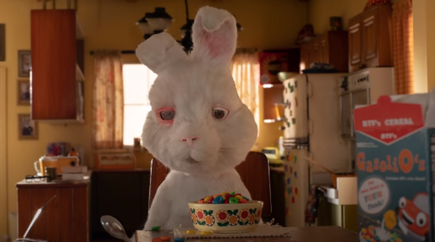 Taika Waititi voices Ralph the rabbit who works as a tester for cosmetics. Photo / The Humane Society of the United States