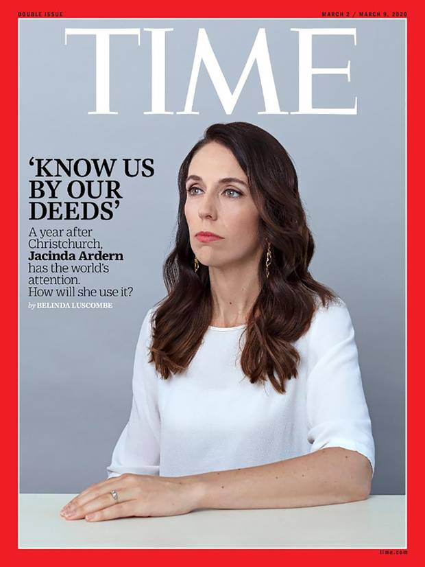 Time's March 2020 issue featured Jacinda Ardern on the cover - in return she scored a free one-year subscription.